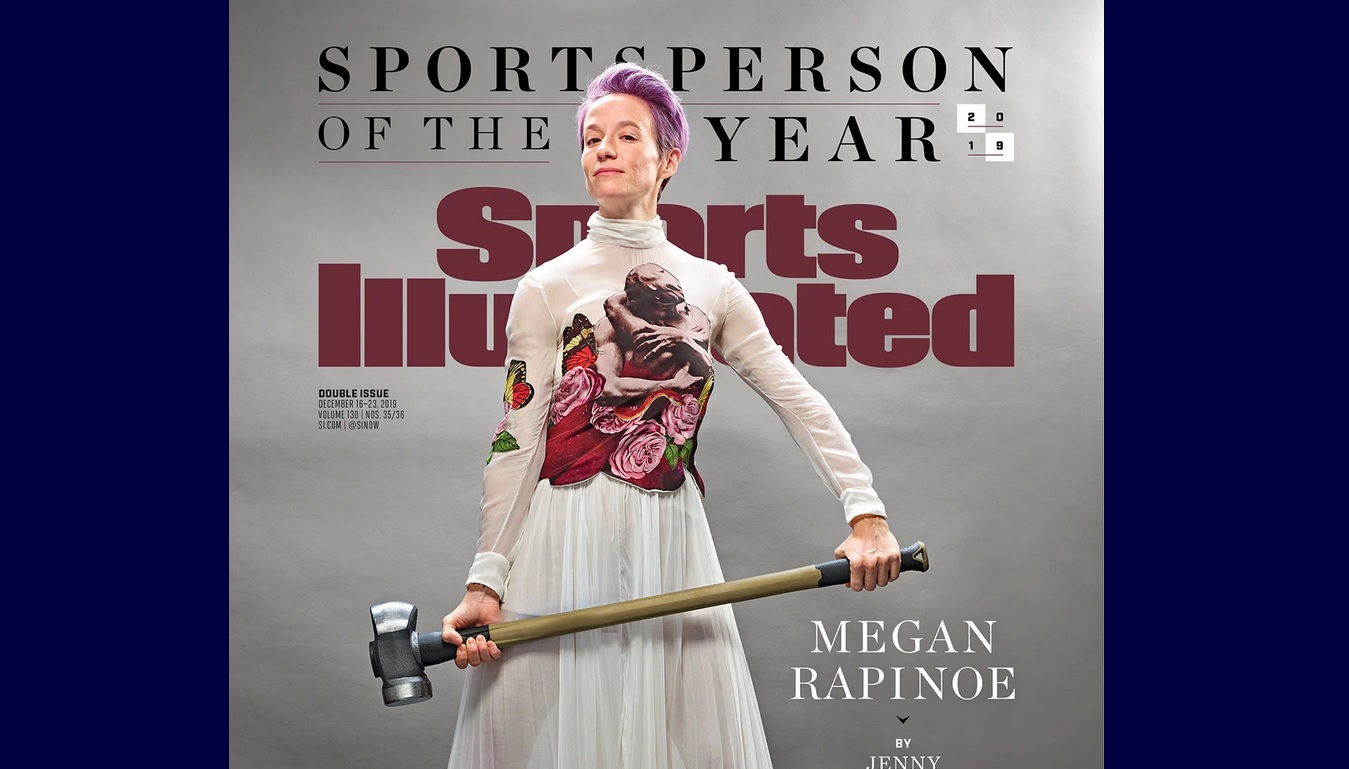 "Megan Rapinoe on the cover of ""Sports Illustrated"""