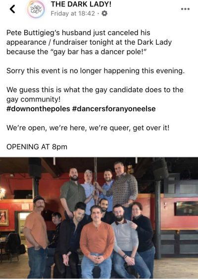 Chasten Buttigieg allegedly abandons fundraiser for Pete at 'inappropriate' gay bar