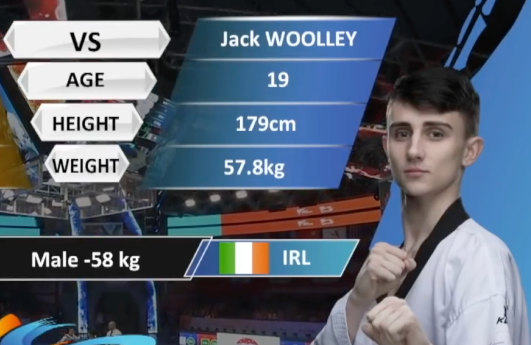 Out Irish Olympian Jack Woolley