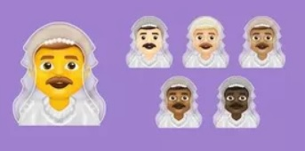 man-in-veil emoji