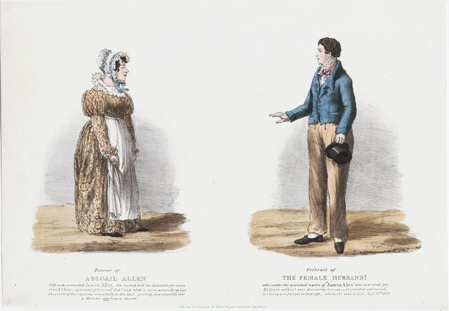 An image of Abigail and James Allen circa 1829