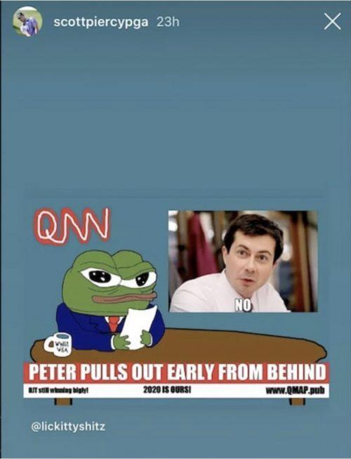 The Buttigieg/Pepe the Frog meme