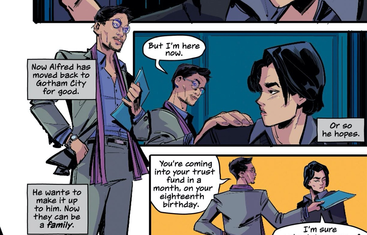 Uncle Alfred is Bruce Wayne's gay uncle in a new graphic novel