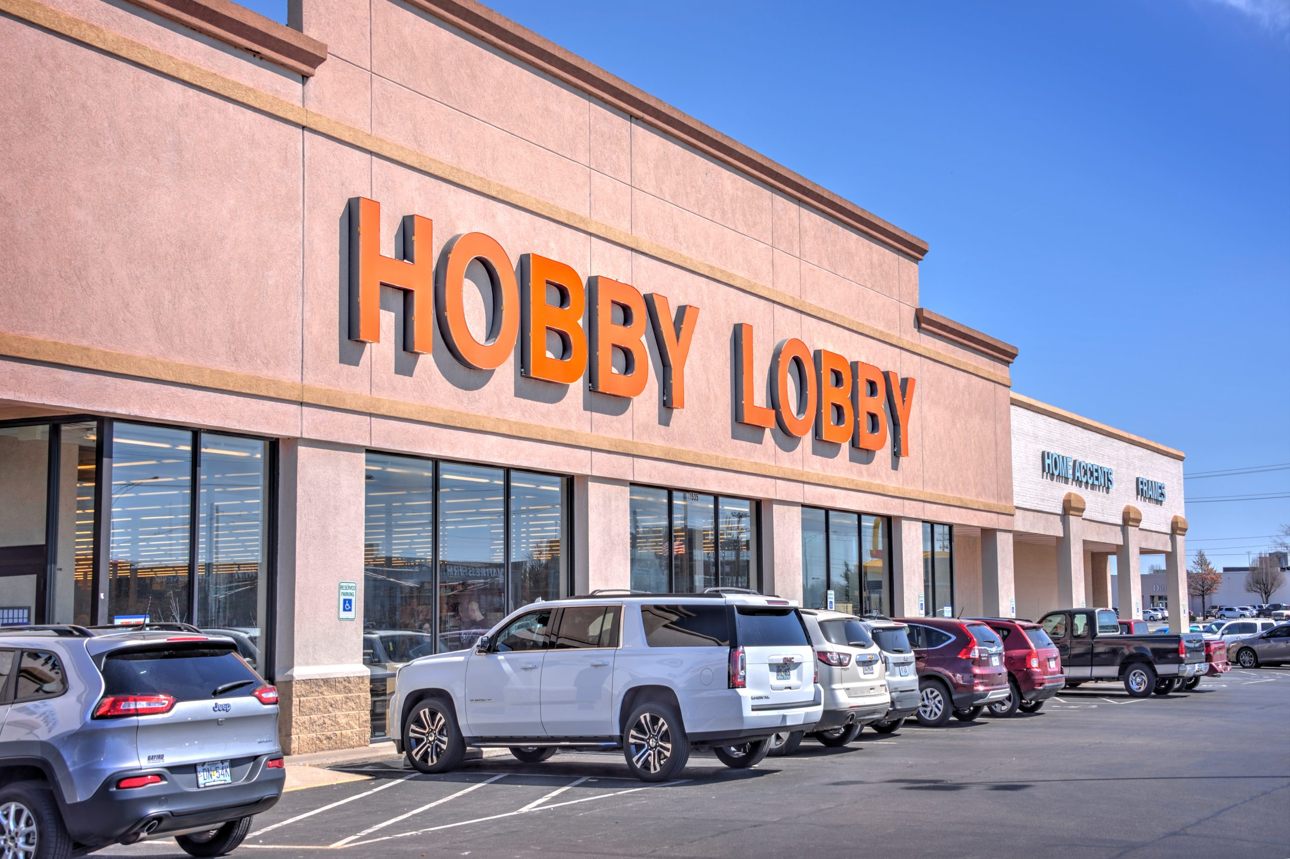 Springfield, Missouri - March 22, 2019: Hobby Lobby stores nationwide are defying coronavirus precaution measures