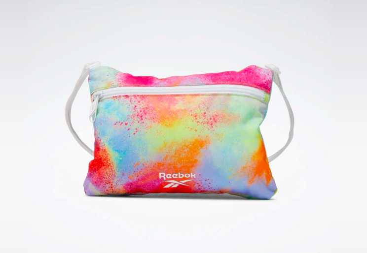 A photo of Reebok's new Pride City Bag, a product which is part of Reebok's new All Types of Love pride campaign.