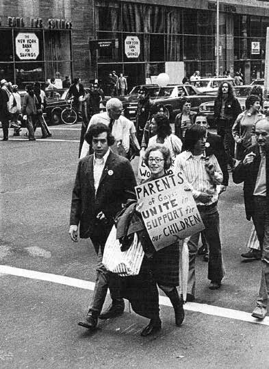 Morty Manford, a Colombia University Student and his mother, Jeanne, at the Christopher Street Liberation Day Parade in New York in 1972.