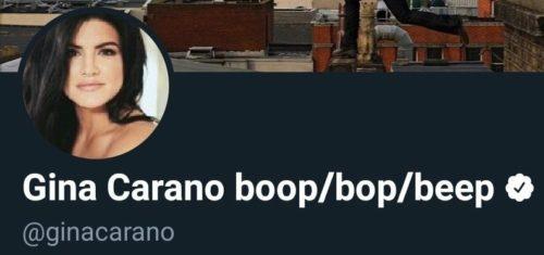 Gina Carano's Twitter profile