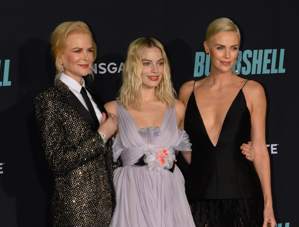 """""""Bombshell"""" stars Nicole Kidman, Margot Robbie, and Charlize Theron at a special screening of the film"""