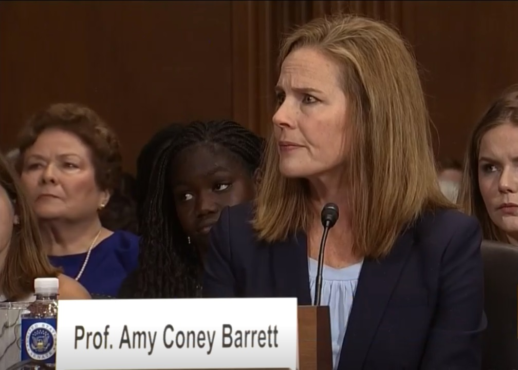 Amy Coney Barrett before the Senate Judiciary Committee on September 6, 2017