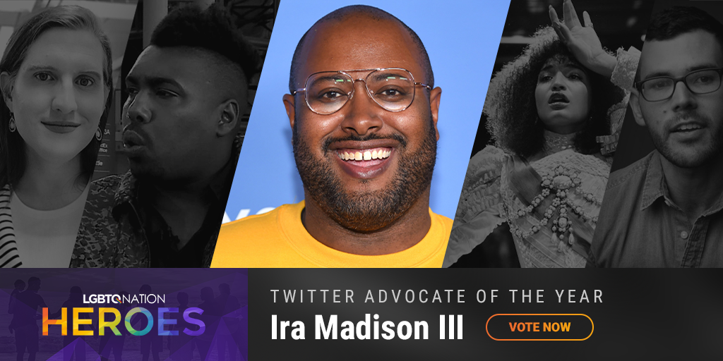 A graphic showing Ira Madison III, who is nominated for Twitter Advocate of the Year.