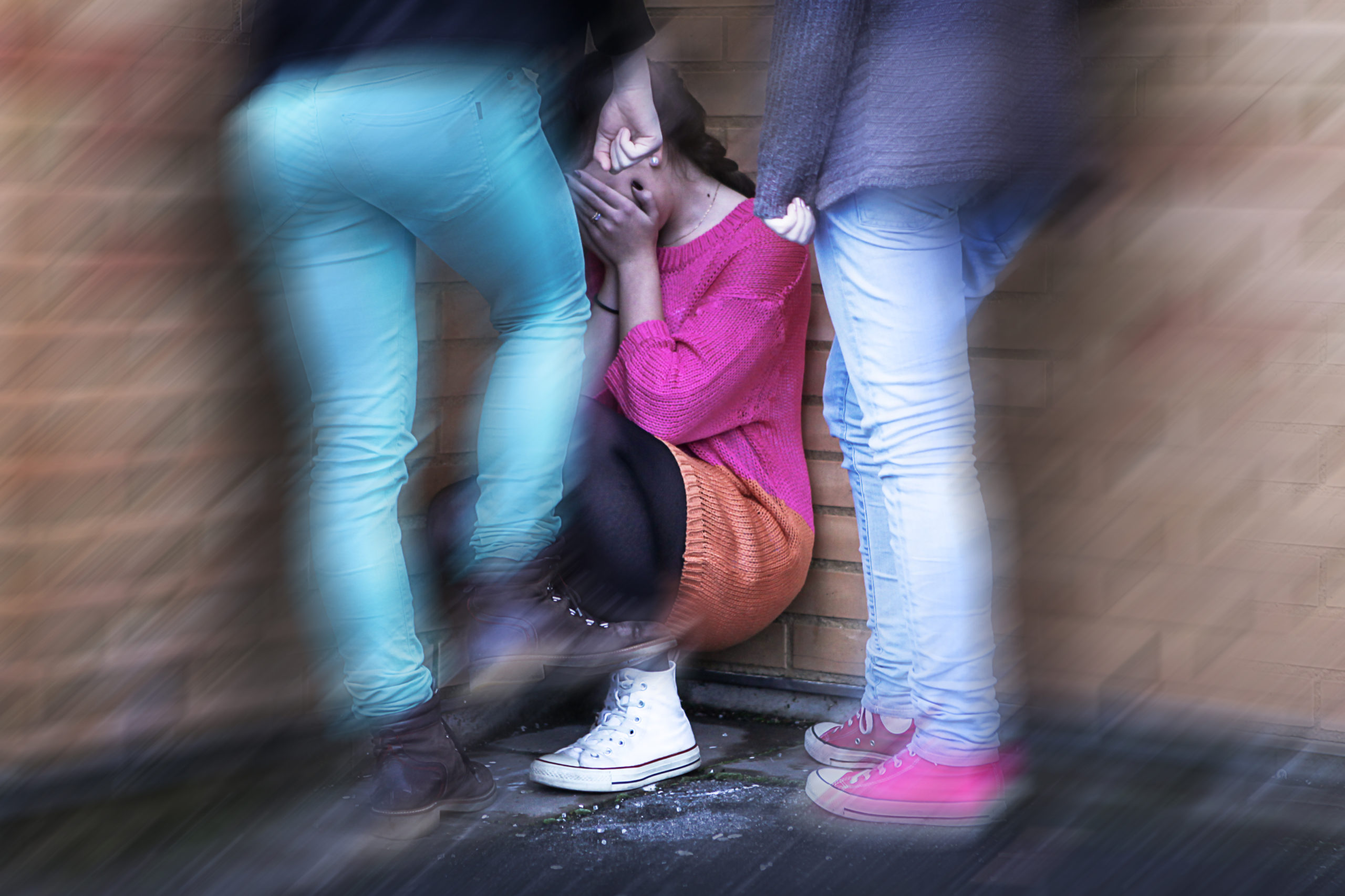 A girl being bullied