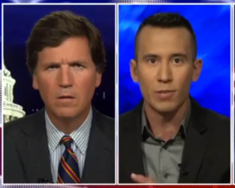 Tucker Carlson and Eddie Scarry