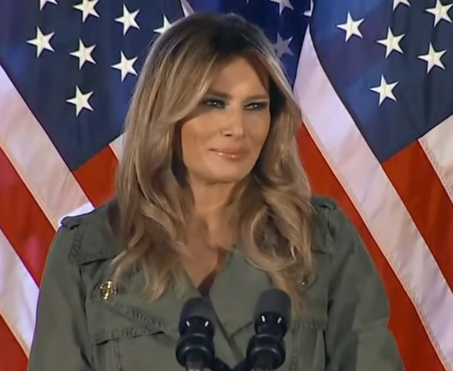 Melania Trump was told by a stranger that her husband is handsome.