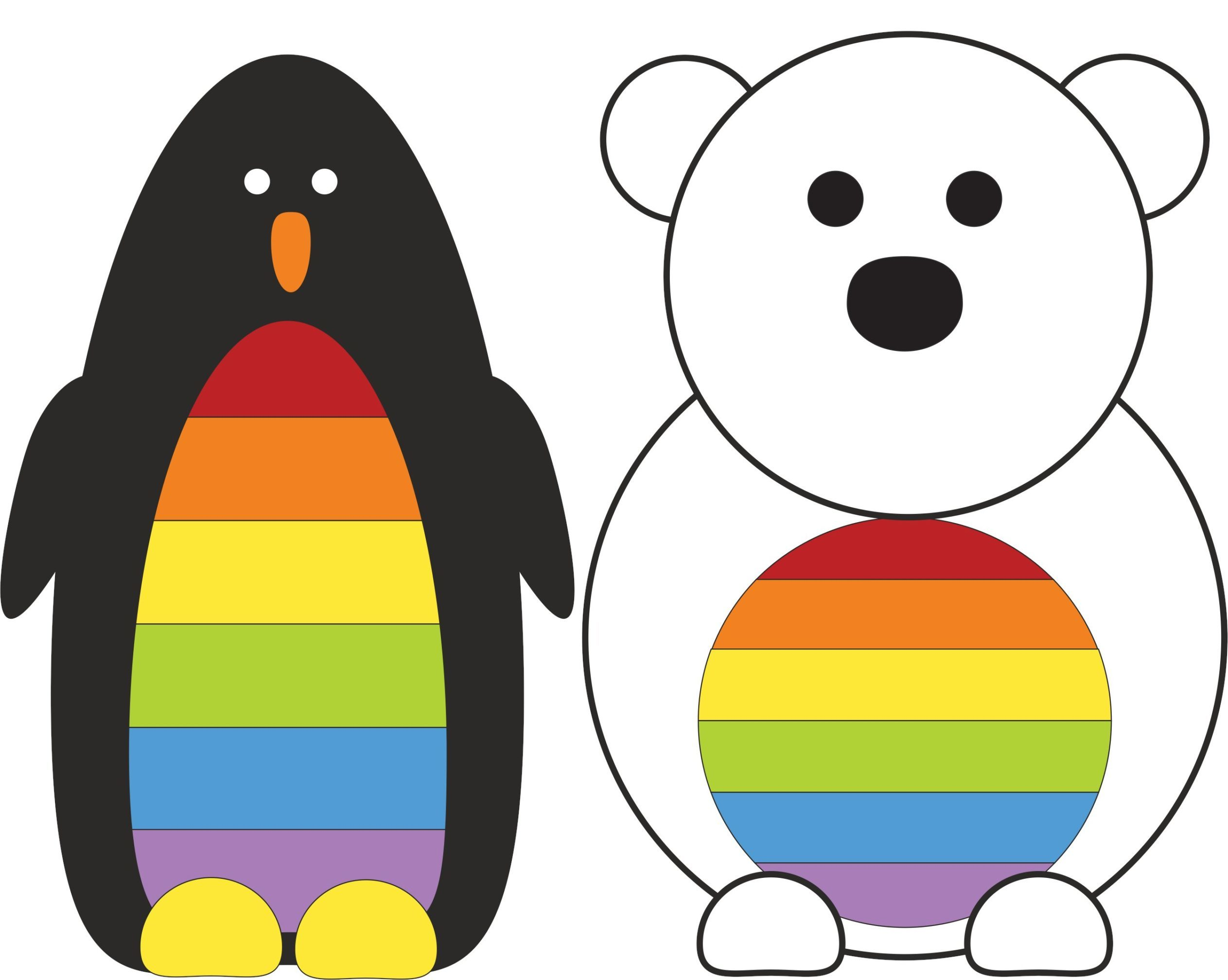 The Polar Pride-designed penguin and polar bear
