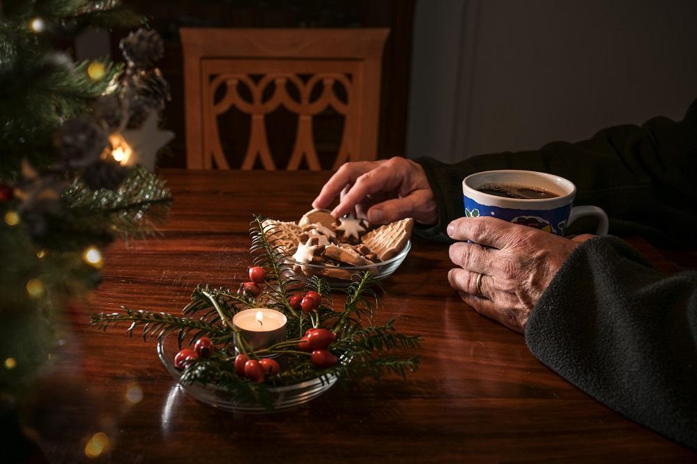 A man alone on Christmas