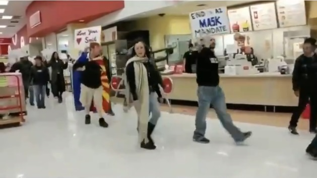 The protestors at Target