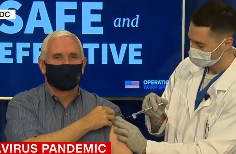 Mike Pence gets the vaccine