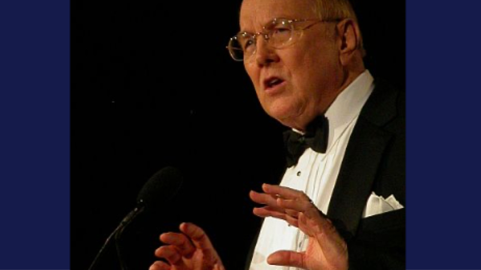 James Dobson in 2007 in Washington, DC at the Values Voters conference