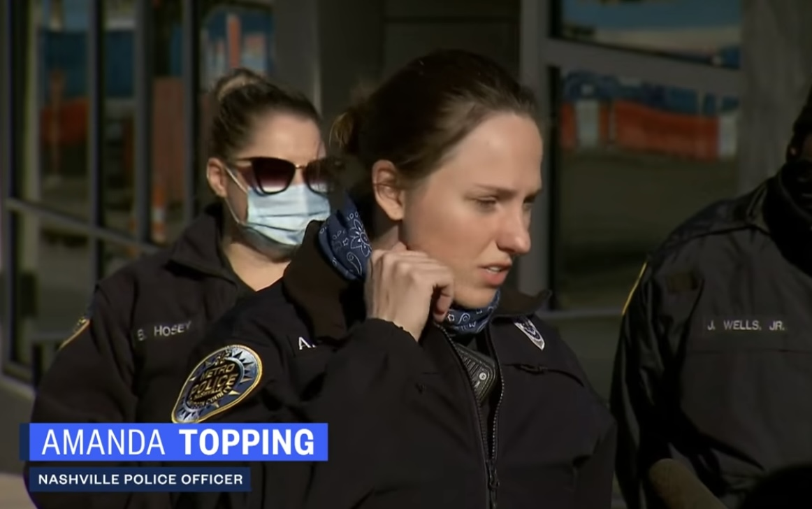 Police Officer Amanda Topping (right)