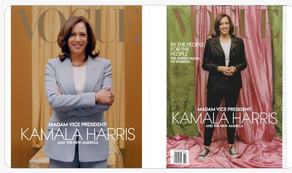 Vice President-elect Kamala Harris graces the cover of Vogue magazine
