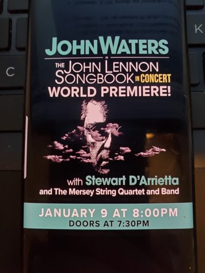A poster for the John Lennon Songbook