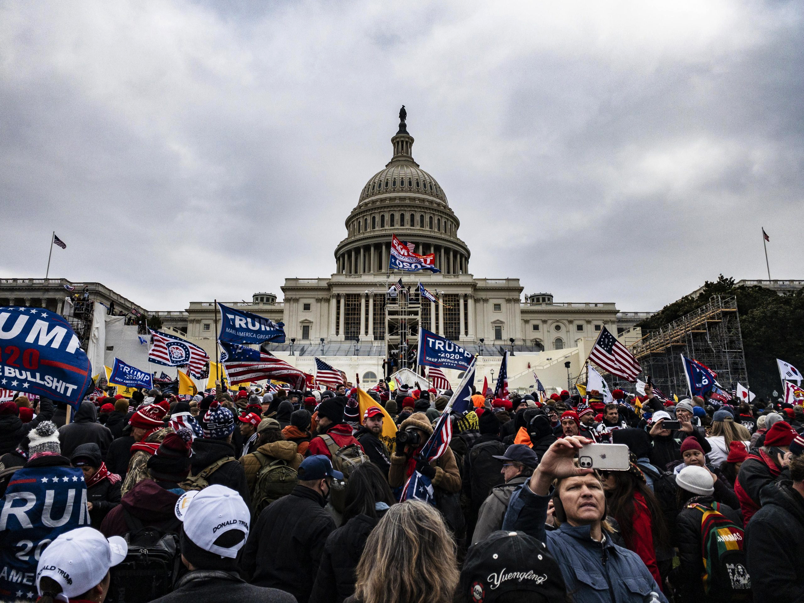 Trump supporters riot in the Capitol, Washington, D.C., January 6 2021