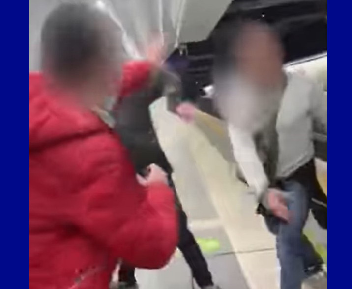 """Gay couple beaten after kissing in a subway station by man yelling """"Aren't you ashamed?"""""""