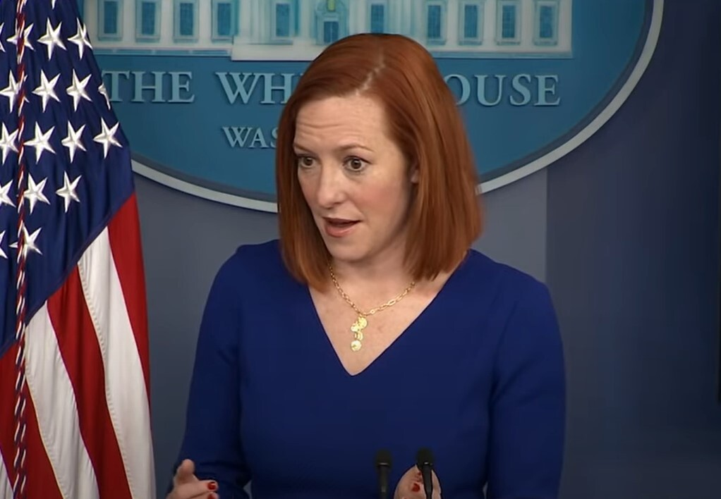 Jen Psaki throws reporter to the wolves when he brings up conspiracy about Biden dogs