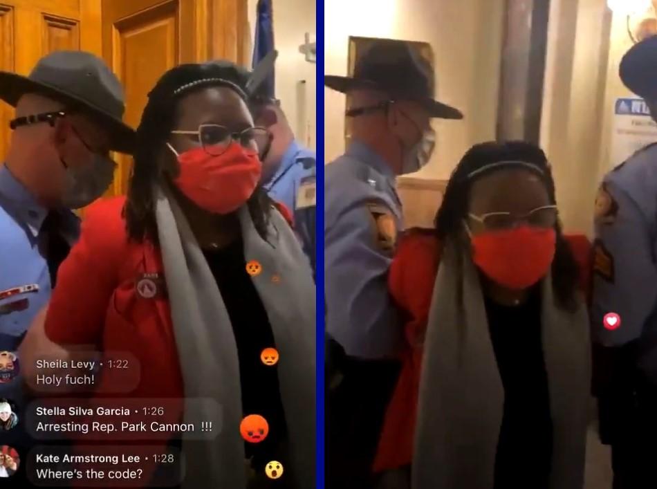 Police arrest out Black lawmaker for knocking on governor's door