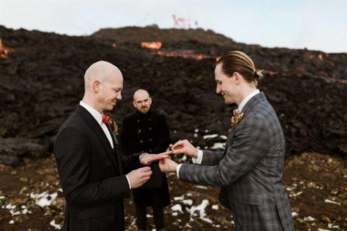Jónsi and Sumarliði's volcanic wedding