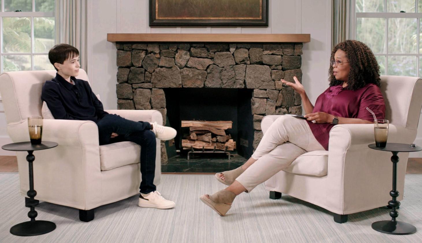 "Elliot Page tells Oprah Winfrey about the ""joy"" transitioning brought him"