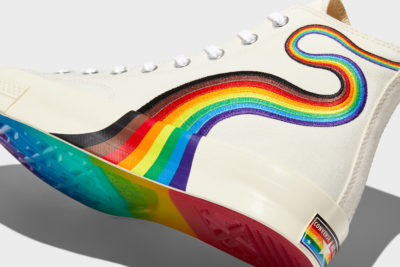 The Pride edition of the Chuck Taylor All-Star with the Philly Pride flag colors