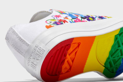 Detail of the Converse Pride Chuck Taylor All-Star low rise sneakers