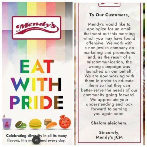 Mendy's accidental Pride promotion