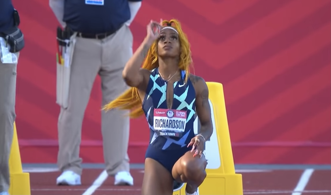 Out track star Sha'Carri Richardson lights up the internet with Olympic trial performance