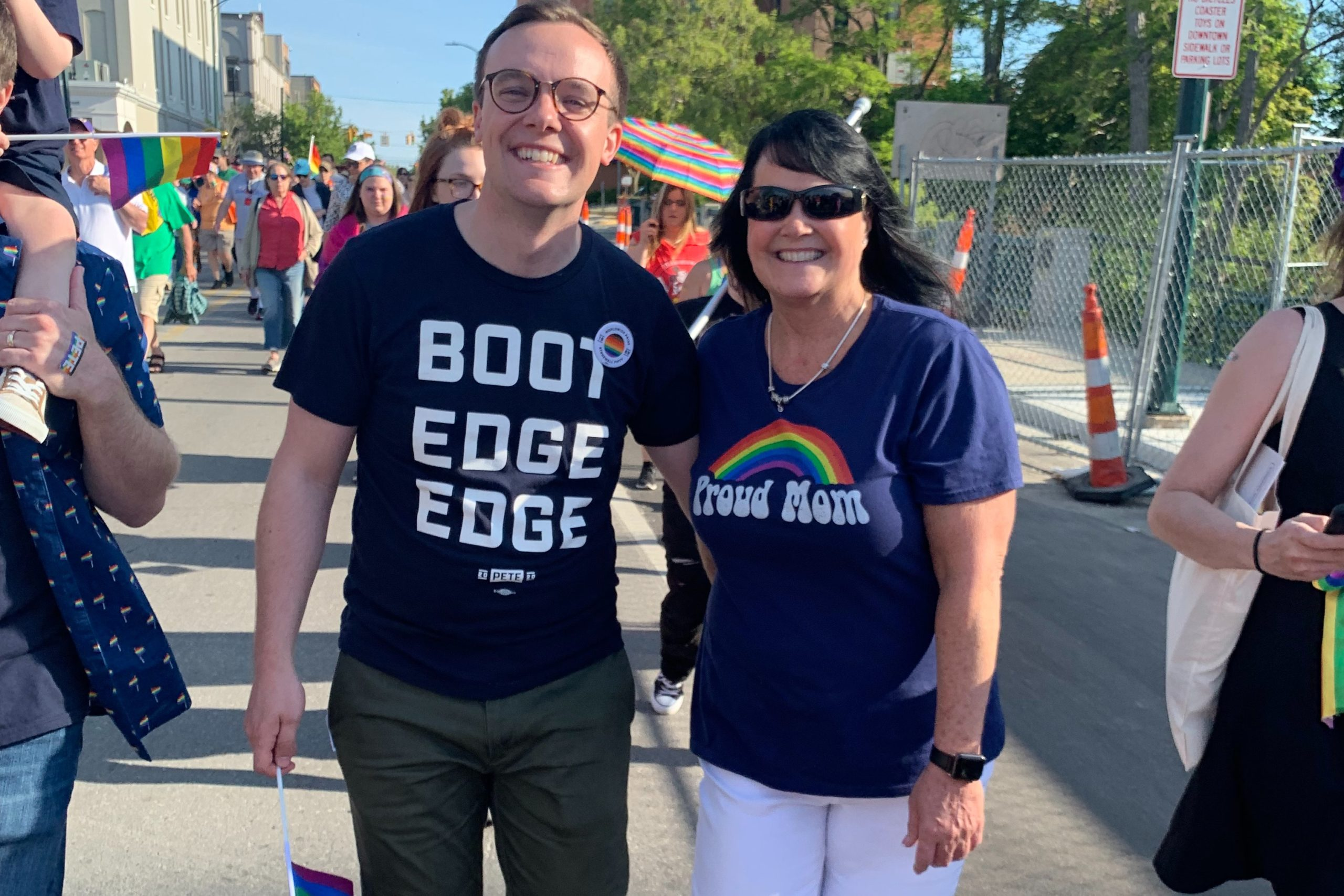 Pride in Pictures: Chasten Buttigieg feels pure joy marching hand in hand with his mom