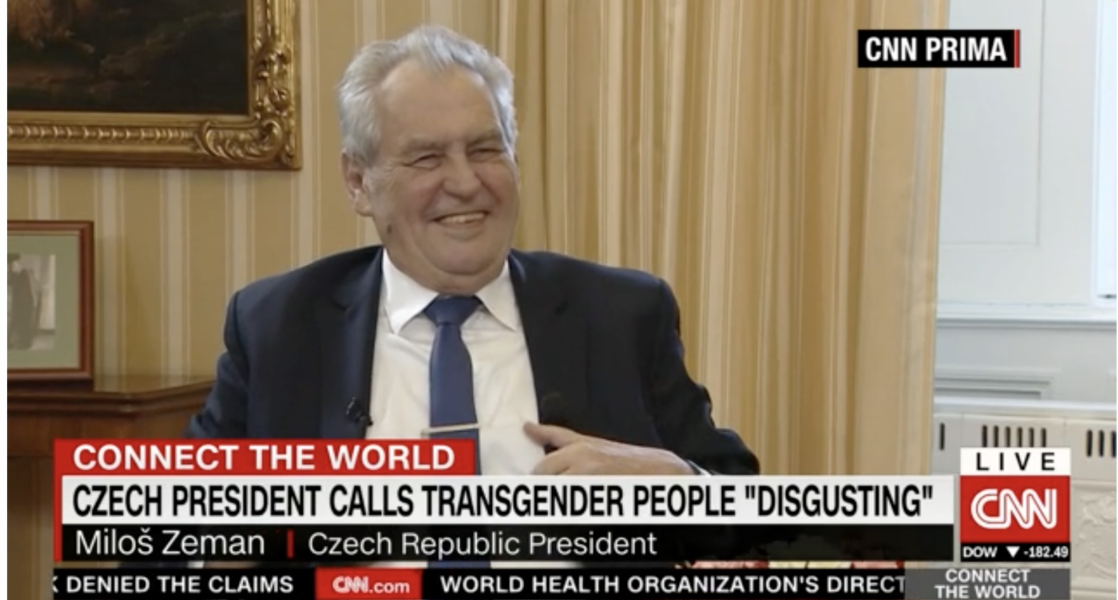 """Czech President calls trans people """"disgusting"""" & declares he's sick of """"suffragettes"""""""
