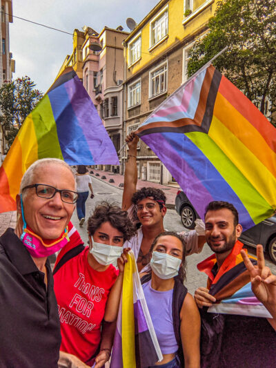 A group of proud Pride marchers I saw in Istanbul, Turkey on June 17, 2021.