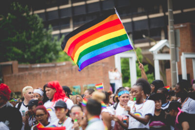 PHILADELPHIA, PA / USA - June 10, 2018: Crowd members enjoying the festivities at the 30th annual PrideDay LGBT Parade and Festival.