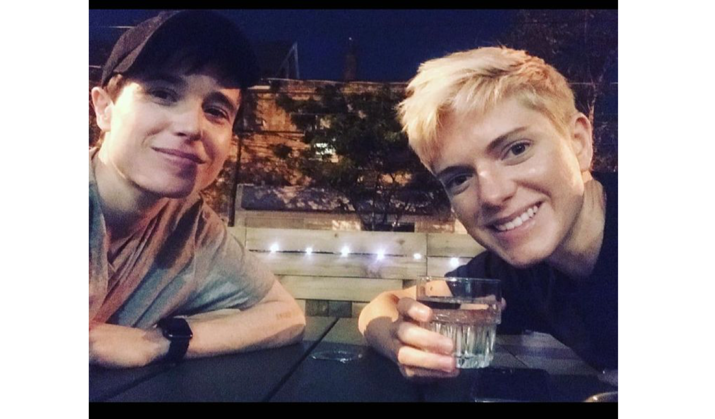 """""""True stud"""" Elliot Page and """"heartthrob"""" Mae Martin reunite after both coming out"""