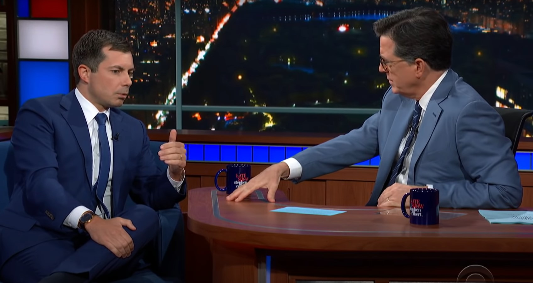 "Pete Buttigieg denounces ""terrible"" attacks on trans youth on Stephen Colbert's show"