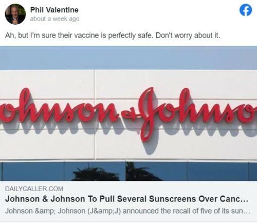 Phil Valentine's anti-vaxx post