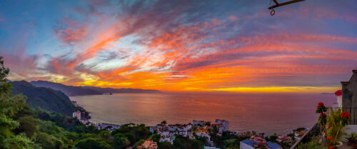 The view from our apartment in Puerto Vallarta