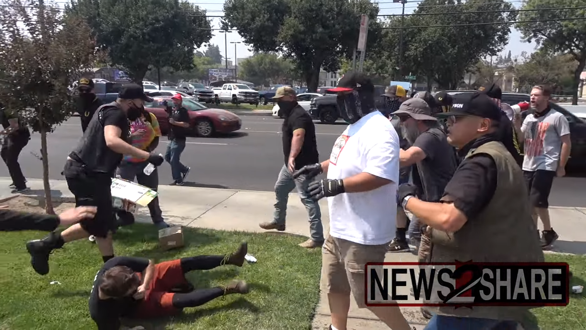 """""""Straight Pride"""" rally ends in bear spray & fistfights"""
