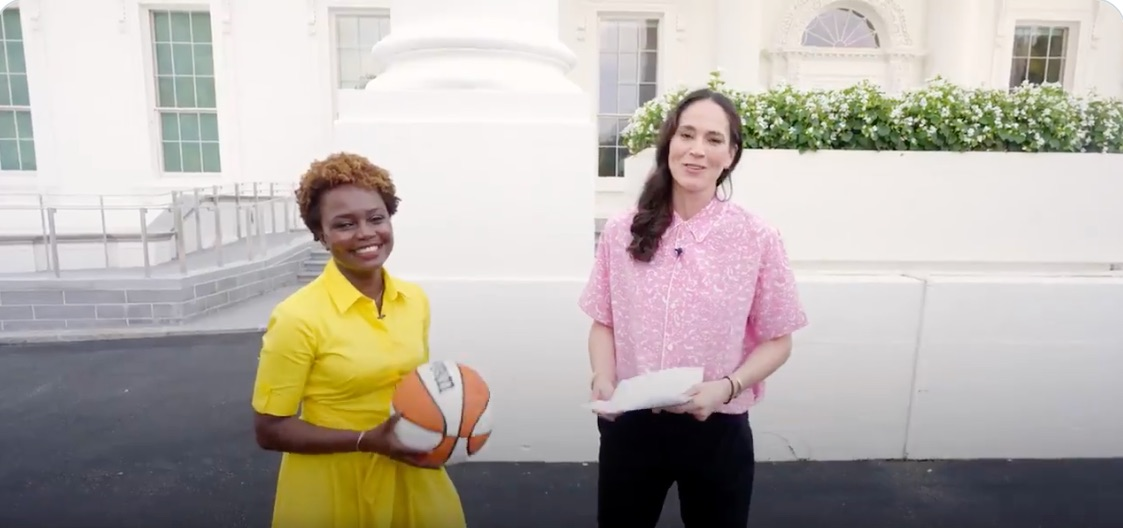 Karine Jean-Pierre went head-to-head with Sue Bird at the White House