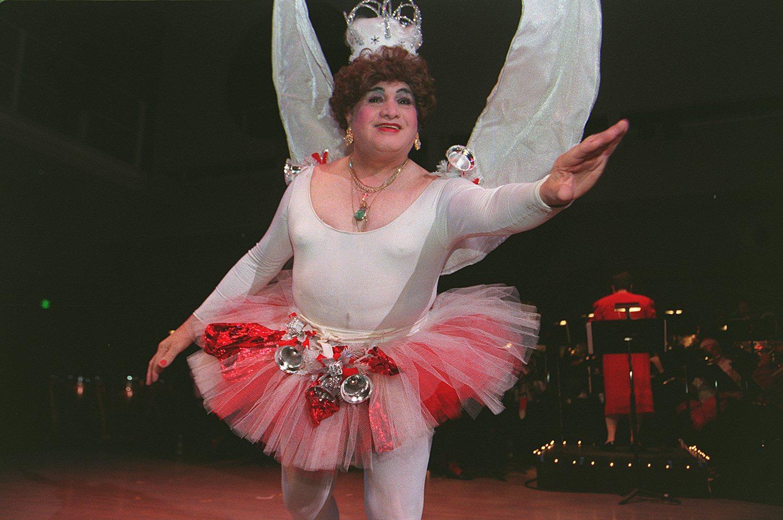 Jose Sarria a.k.a. The Widow Norton dances as the Sugar Plum Fairy during the Dance-Along Nutcracker. Photo: Lea Suzuki/The San Francisco Chronicle via Getty Images