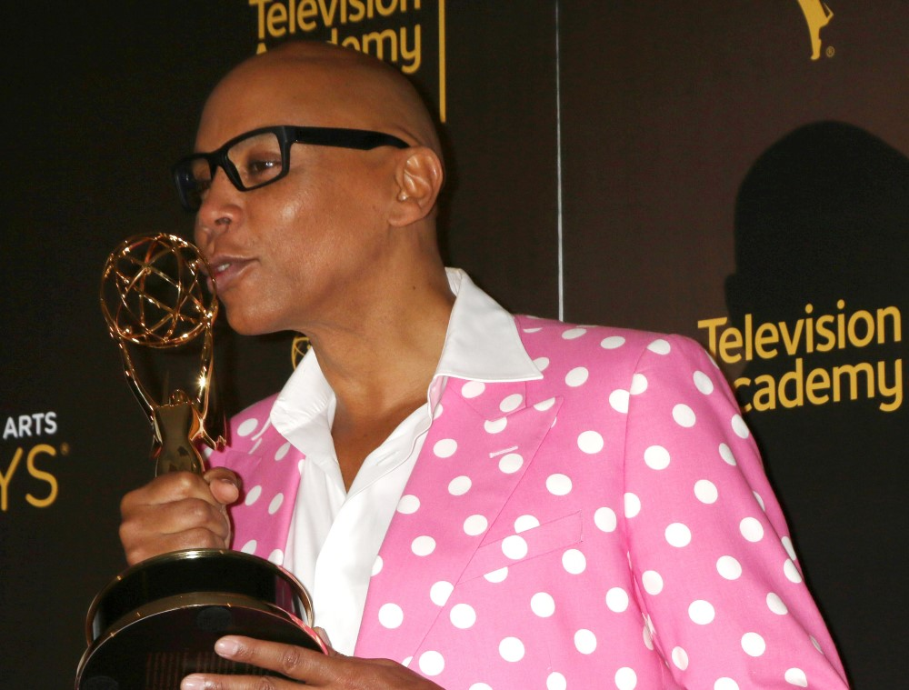RuPaul is now the Black entertainer with the most Emmys. He sent love to LGBTQ kids when he won.