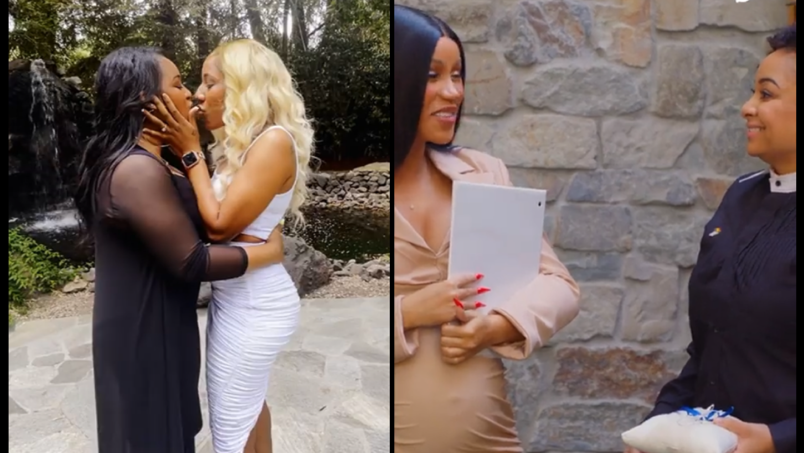 Watch these brides freak out as Raven-Symone brings out Cardi B to officiate their wedding