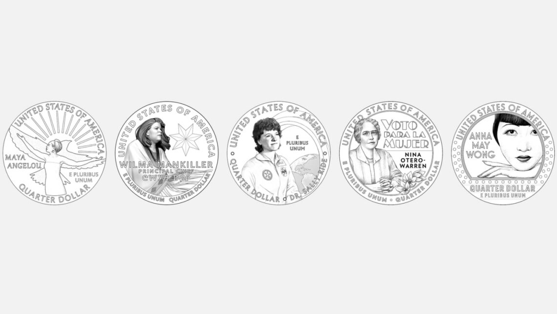 The first five women honored as part of the
