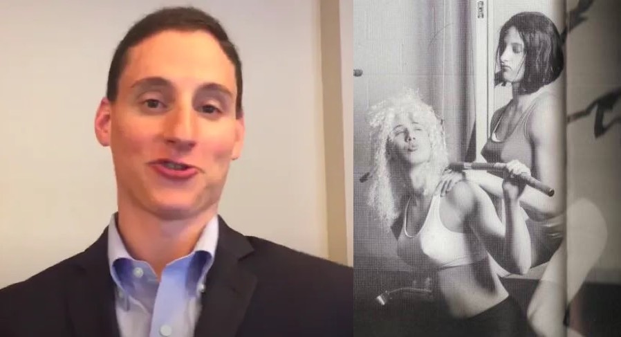 A GOP candidate mocked trans women online so the internet dug up a photo of him in a bra & wig